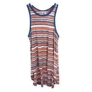 Free People Oversized Striped Ribbed Swing Tank